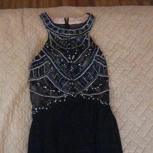 2 Cute Long Prom Dress Black